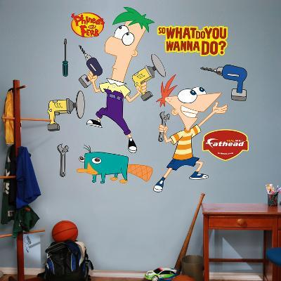 Phineas and Ferb Wall Decal Sticker