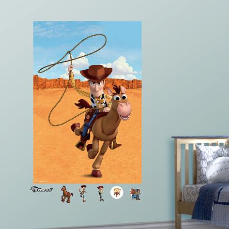 Toy Story Woody Wall Art Sticker bullseye Personalised Vinyl Wall Decal Decor