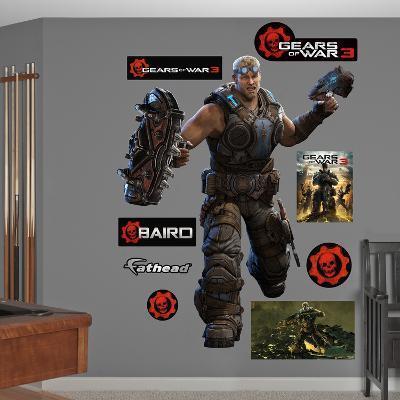 Gears Of War 3 Baird Wall Decal Sticker