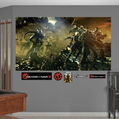 Gears Of War 3 Battle Mural Decal Sticker
