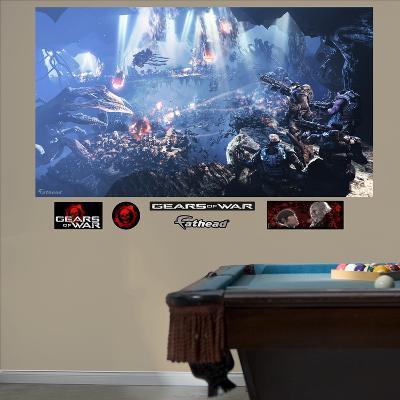Gears Of War 3 Underground Mural Decal Sticker