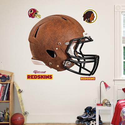 Washington Redskins Leather Helmet Wall Decal Sticker