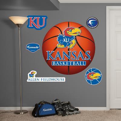 NCAA Kansas Jayhawks Basketball Wall Decal Sticker