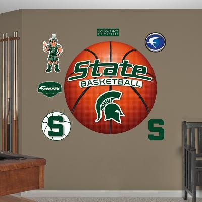 NCAA Michigan State Spartans Basketball Wall Decal Sticker