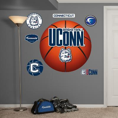 NCAA Connecticut Huskies Uconn Basketball Logo Wall Decal Sticker