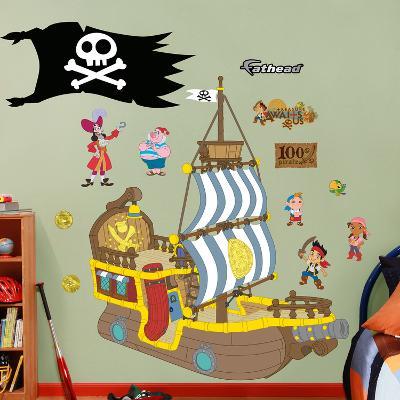 Jake & the Neverland Pirates Bucky Pirate Ship Wall Decal Sticker