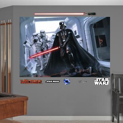 Star Wars Darth Vader Stormtroopers Fallen Rebel Mural Decal Sticker