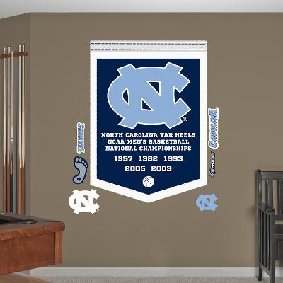 NCAA North Carolina Tar Heels Basketball Championships Banner Wall Decal Sticker