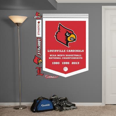 NCAA Louisville Cardinals Basketball Championships Banner Wall Decal Sticker