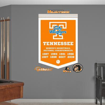 NCAA Tennessee Volunteers Women's Basketball Championships Banner Wall Decal Sticker