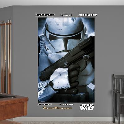 Star Wars Stormtrooper Closeup Mural Decal Sticker
