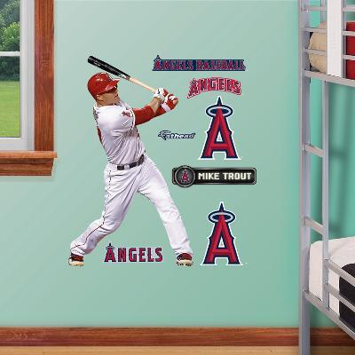 Los Angeles Angels Mike Trout Junior Wall Decal Sticker