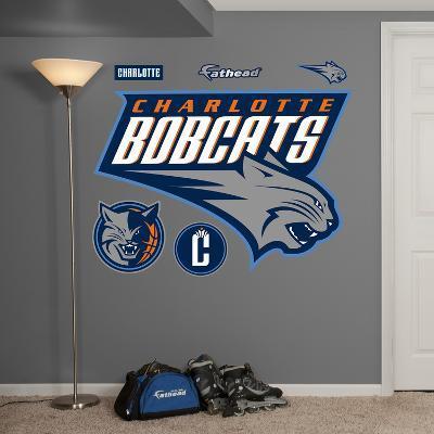 NBA Charlotte Bobcats Logo Wall Decal Sticker