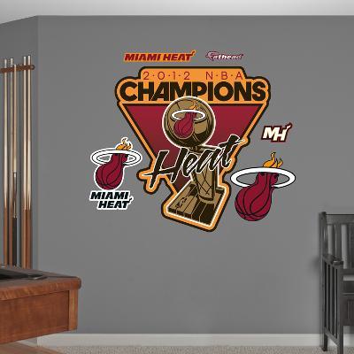 NBA Miami Heat 2012 NBA Champs Logo Wall Decal Sticker