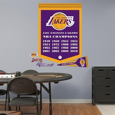 NBA Los Angeles Lakers Championships Banner Wall Decal Sticker