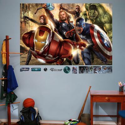 Marvel Avengers Mural Decal Sticker