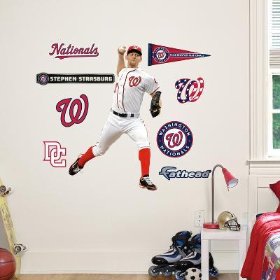 Washington Nationals Stephen Strausburg 2012 Jr Wall Decal Sticker