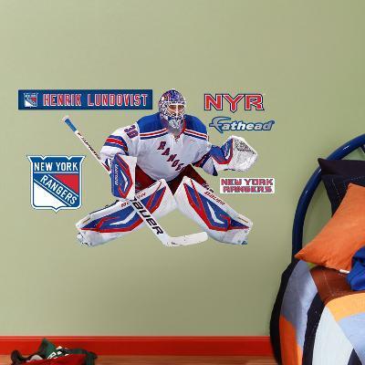 New York Rangers Henrik Lunqvist - Fathead Jr. Wall Decal Sticker