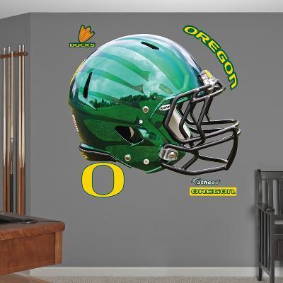 Oregon Liquid Thunder Green Helmet Wall Decal Sticker