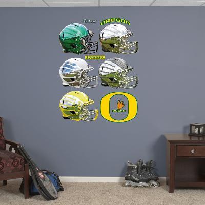 Oregon Ducks Helmet Collection Wall Decal Sticker