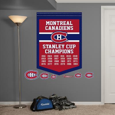 NHL Montreal Canadiens Stanley Cup Championships Banner Wall Decal Sticker