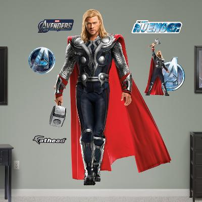 Marvel Thor Avengers Live Action Photo Wall Decal Sticker