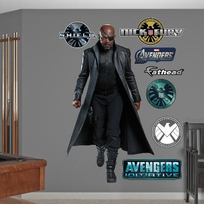 Marvel Nick Fury Avengers Live Action Photo Wall Decal Sticker