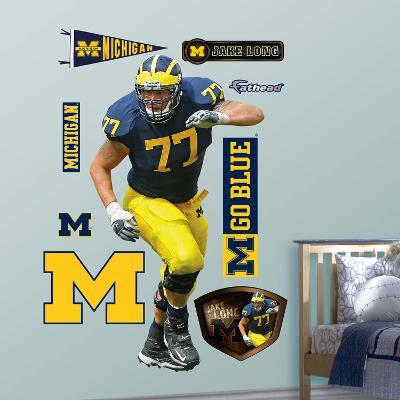 NCAA/NFLPA Michigan Wolverines Jake Long Wall Decal Sticker