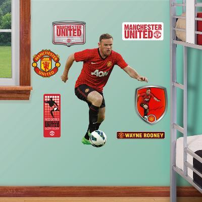Manchester United Wayne Rooney 2012-13 Jr. Wall Decal Sticker