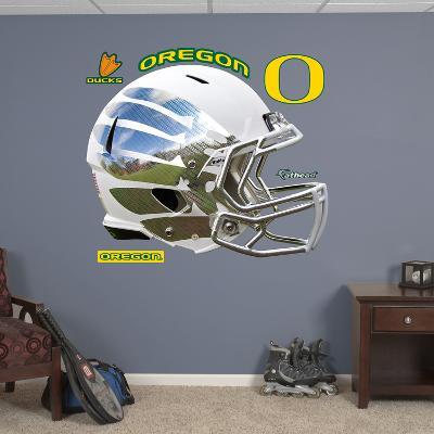 Oregon Liquid Storm White Helmet Wall Decal Sticker