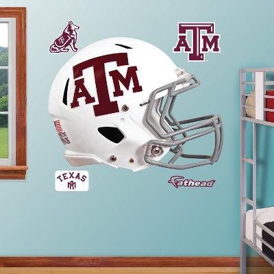 Texas A&M Aggies White Helmet Wall Decal Sticker