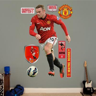 Manchester United Wayne Rooney Wall Decal Sticker
