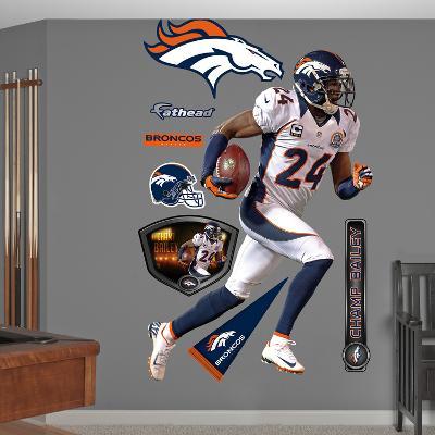 NFL Denver Broncos Champ Bailey Wall Decal Sticker