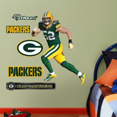 NFL Clay Matthews 2013 Junior Wall Decal Sticker