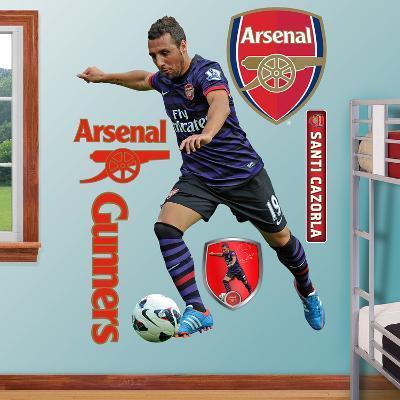 Arsenal Gunners Santi Cazorla Wall Decal Sticker