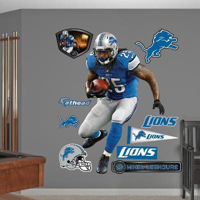 NFL Detroit Lions Mikel Leshoure Wall Decal Sticker
