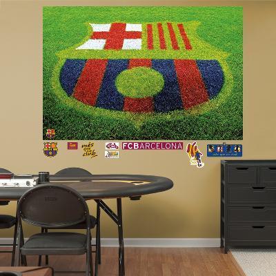 FC Barcelona Grass Mural Decal Sticker