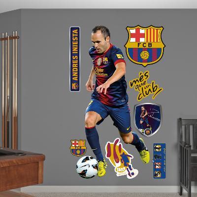 FC Barcelona Iniesta Wall Decal Sticker