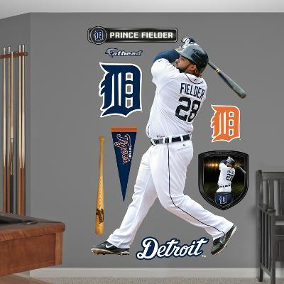 Detroit Tigers Prince Fielder 2012 Alternate Wall Decal Sticker