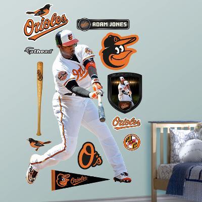 Baltimore Orioles Adam Jones 2012 Wall Decal Sticker