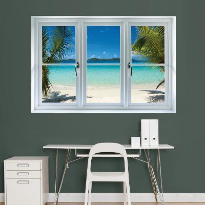 Virgin Islands Beach Instant Window Wall Decal Sticker