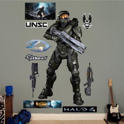 Battle Ready Master Chief Halo 4 Wall Decal Sticker