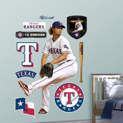 Texas Rangers Yu Darvish Wall Decal Sticker