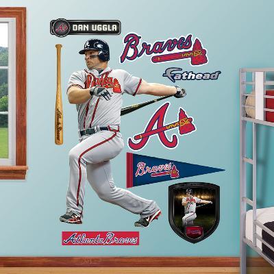 Atlanta Braves Dan Uggla Wall Decal Sticker
