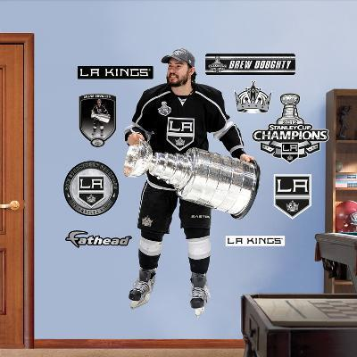 NHL Los Angeles Kings Drew Doughty Stanley Cup Wall Decal Sticker
