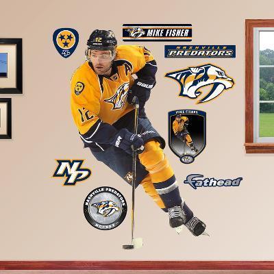 NHL Nashville Predators Mike Fisher Wall Decal Sticker