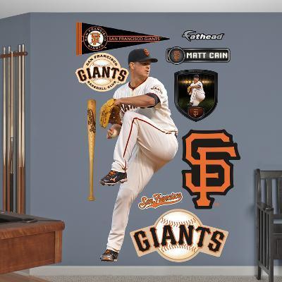 San Francisco Giants Matt Cain Wall Decal Sticker