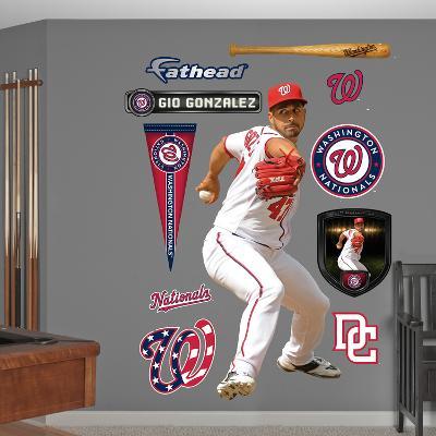 Washington Nationals Gio Gonzalez Wall Decal Sticker