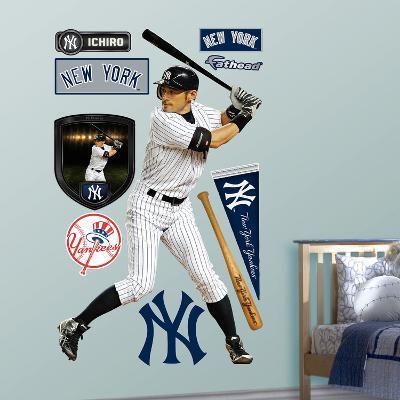 New York Yankees Ichiro Wall Decal Sticker