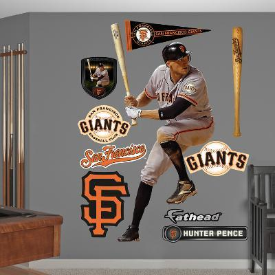 San Francisco Giants Hunter Pence Wall Decal Sticker